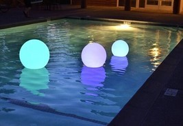 NEW! Waterproof Outdoor Swimming Pool Floating Round LED Ball Light 20-35cm - $62.88+