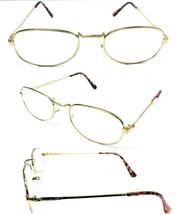 Tall Bridge Gold Frame Men Women Clear Lens Reading Glasses +1.25 ~ 3.25  - $5.45+