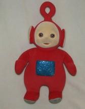 "Eden Teletubbies 1998 14"" Red Plush Blue Glitter Tummy - $16.82"
