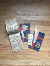Vintage set of 3 unused Gold Bond Savers books & 28 unused stamps