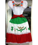 Women's Viva Mexico One Size Fits Most Top & Skirt Set Mexican Folkloric... - $79.48
