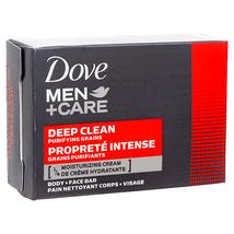 6 Bars Dove Men Deep Clean Soap Body Facial Face Dry Skin 4 Oz Each - $21.99