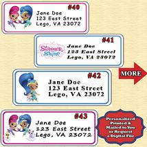 Shimmer & Shine Birthday Address Labels 1 sheet Personalized - $5.75