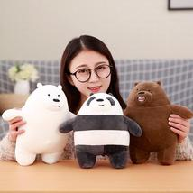 We Bare Bears Sitting Dolls Plush Toy Grizzly Panda Ice Bear Collection image 2