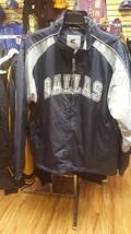 Dallas Football Jacket Mens Blue Gray Dallas Jacket  - $29.40