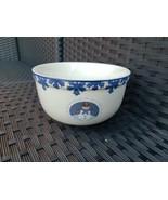 Folkcraft Stoneware Soup / Dessert Bowl Cameo Snowman / Snowmen - Chip O... - $10.99