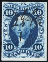 R33a, Scarce 10¢ Certificate Revenue Stamp Cat $400.00 - Stuart Katz - $225.00