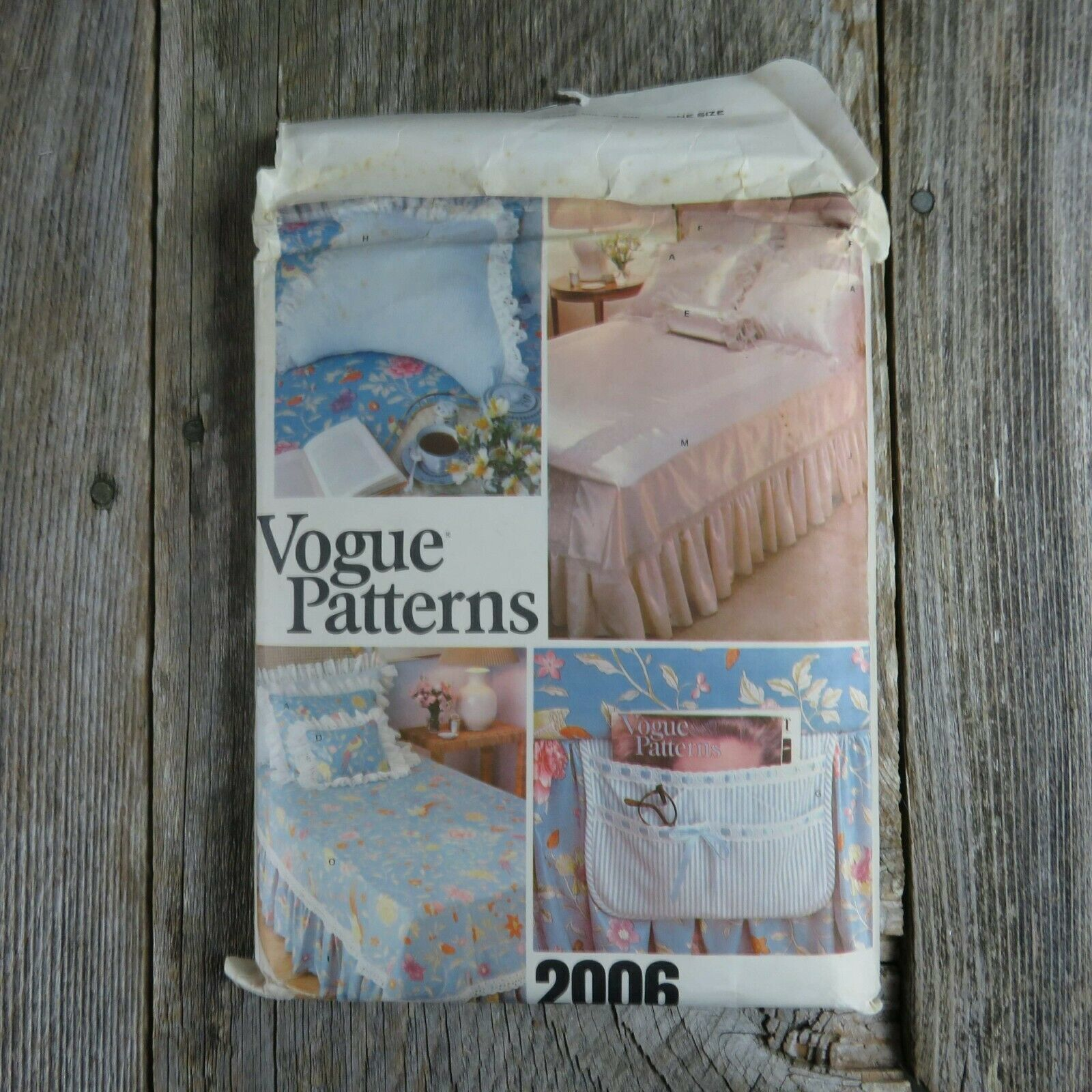 Primary image for Vintage Vogue Bedspread Linen Sewing Pattern Bedroom Sham Pillow Bed Covers