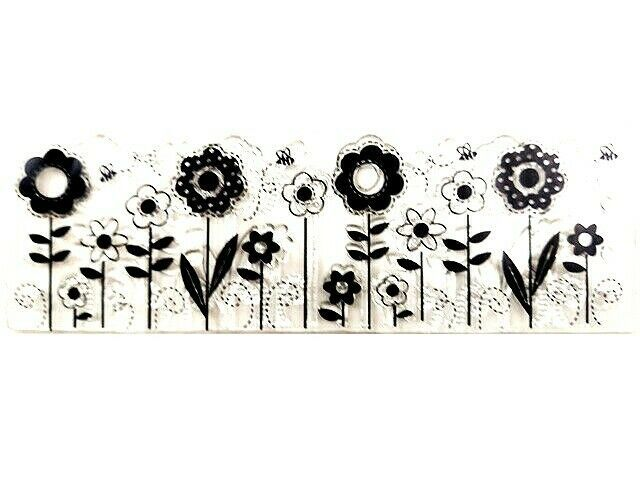 Flower Border Clear Cling Stamp
