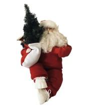 Vintage ML Klaus Santa Claus Figure Sitting Sneaker Wearing Shelf Mantle... - $22.50