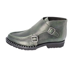 DSQUARED2 Missionary Monk Strap Ankle Boots Verde 41 EU/ 8 US Made in IT... - $299.75