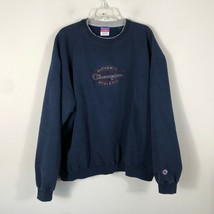 Vintage Champion Crew Neck Sweatshirt Men's 2XL Navy Blue Long Sleeve Pu... - $37.79