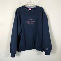Vintage Champion Crew Neck Sweatshirt Men's 2XL Navy Blue Long Sleeve Pu... - $37.79