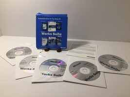 Microsoft Works Suite 2003 PC CD ROMs 5 Discs Money Travel Encarta Photos & More - $7.90