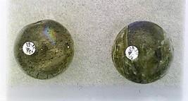 Labradorite Crystal 8mm Stud Earrings 2 - $8.04