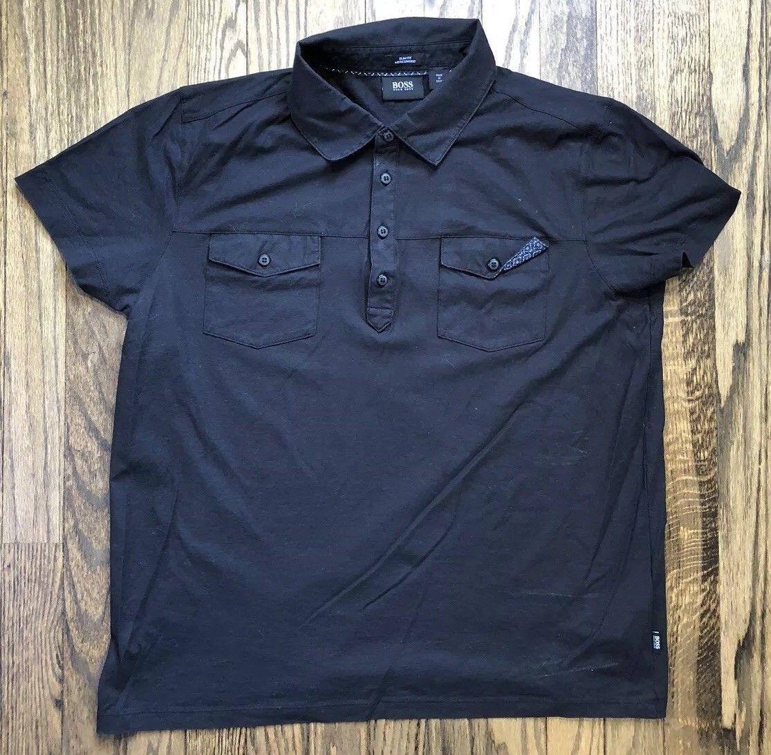 0c17cd69 S l1600. S l1600. Previous. Hugo Boss Mens Slim Fit Short Sleeve Polo Shirt  International Size XL