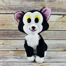 "Disney Pinocchio Figaro Cat Plush Stuffed Animal Just Play Black White 6"" - $14.99"
