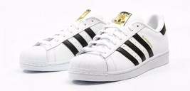 Adidas Originals Superstar C77124 White/Black/Gold Leather Mens Shoes - $79.95