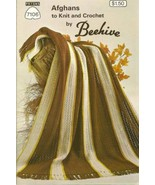 Afghans to Knit and Crochet 7106 Behive  Patons Booklet Craft - $4.90