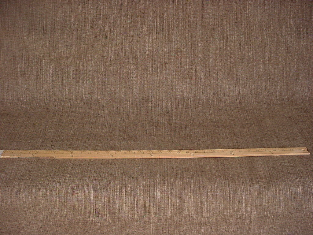 6Y VALDESE WEAVERS MOSS BROWN STRIE DRAPERY UPHOLSTERY FABRIC