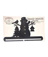 Classic Motifs Frosty Snowman 12 Inch Charcoal Split Bottom Craft Holder - $22.63