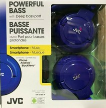 JVC - HA-SR185 - Wired Foldable Headphones with Mic - Blue - $29.65