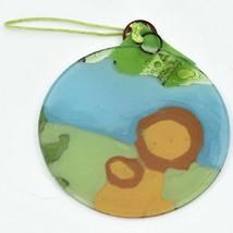 Fused Art Glass Smiling Lions Ornament Handmade in Ecuador image 2