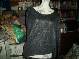 BCBG GENERATION Smooth Gray Metallic Open Back Blouse Size XXS - $13.86