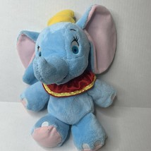 "Disney Dumbo Flying Elephant Vintage Stuffed Plush Toy 13"" Blue Circus EUC - $14.46"