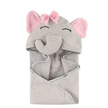 Hudson Baby Unisex Baby Cotton Animal Face Hooded Towel, Pretty Elephant... - $29.99+