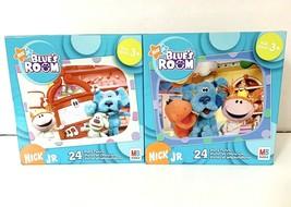 "NIB Lot of 2 Blues Clues 24 Piece Puzzle 13""×10"" 2005 Hasbro Sealed New - $37.95"