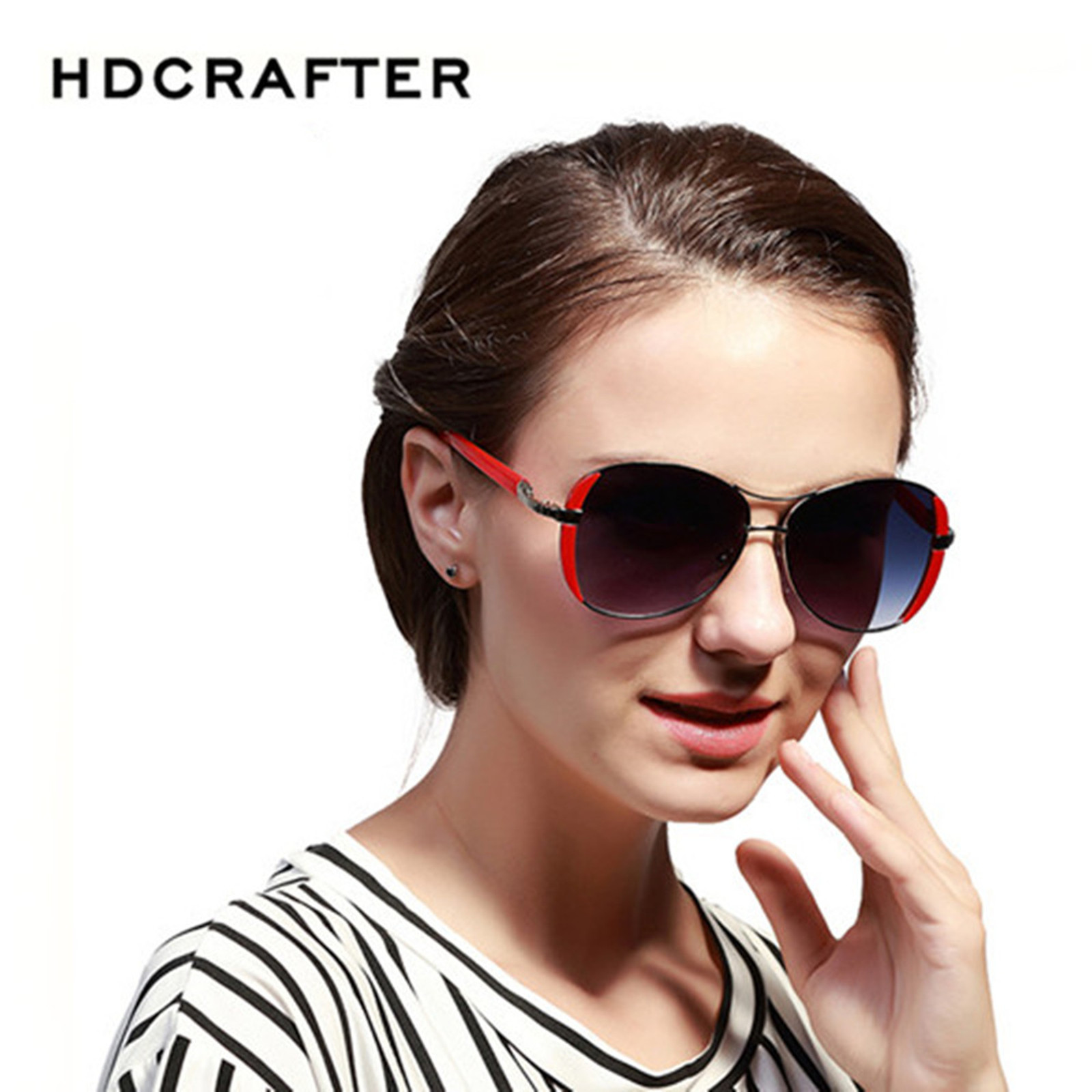 HDCRAFTER HD9031 Fashion Oval Luxury Outdoor Lady's sunglasses
