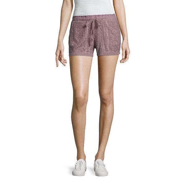 """Rewind 3"""" Lace Soft Shorts Juniors Size S, M, L, XL New Msrp $40 Lavender Purple"""