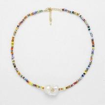 Multicolor Raw Pearl Choker - $85.14