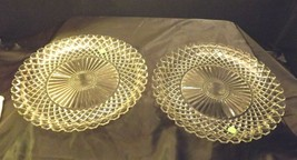 Waterford large etched glass Serving Platters USA Pair AA19-LD11930 Vintage image 2