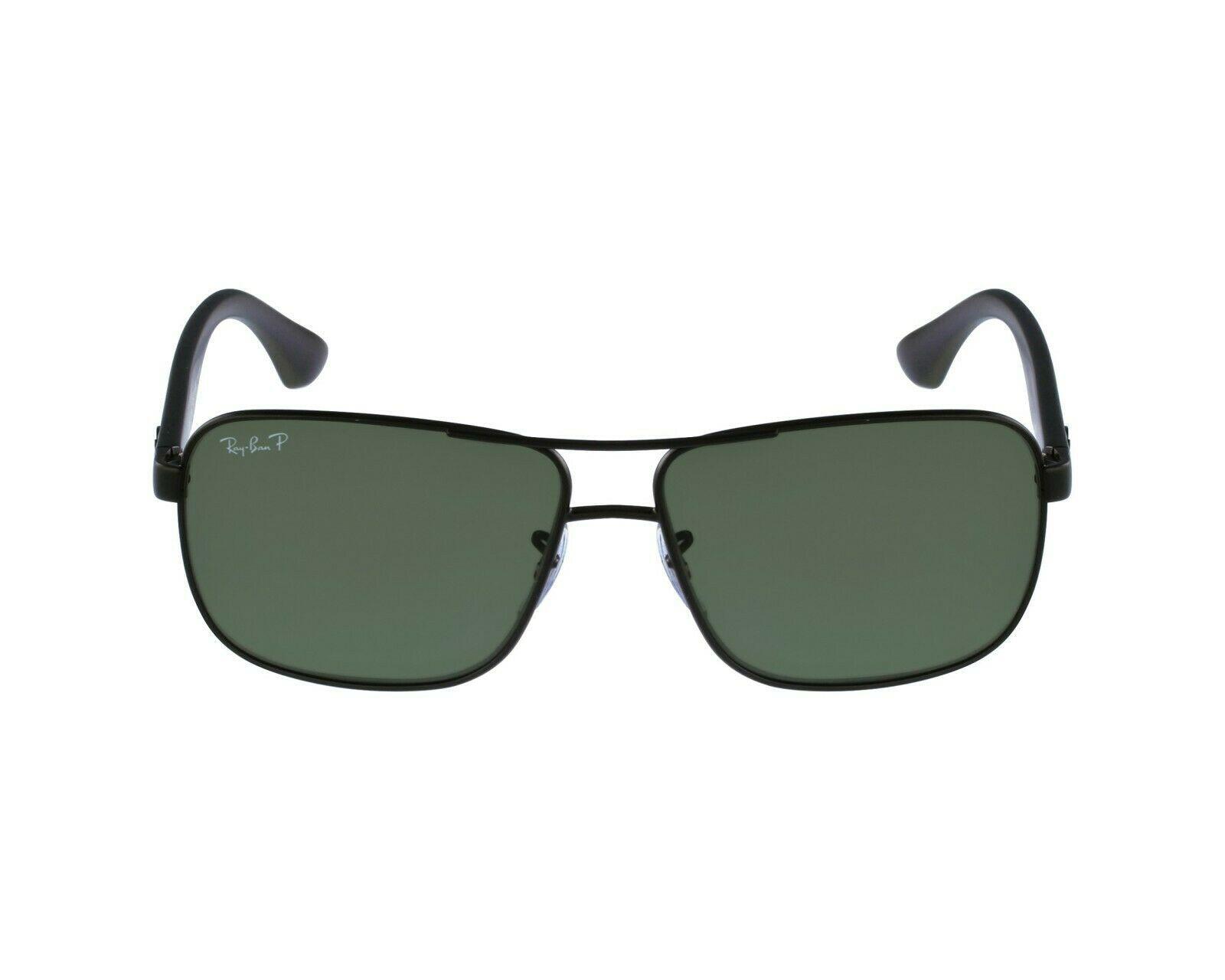 Nuevo Ray Ban RB 3516 006 / 9A Mate Negro W/ Verde Lentes Polarizados 59mm