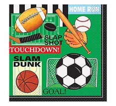Classic Sports Party Napkins, 16ct image 2