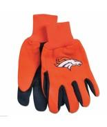 NFL Denver Broncos Two Tone Non Slip Sport Utility Work Gloves - One Size - $4.99