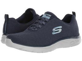 Skechers Burn Bright Navy Womens Size 9B Sneakers
