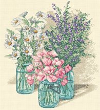 Dimensions 35122 Wildflower Trio Counted Cross Stitch Kit-11X12 14 Count - $23.75