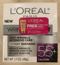 Loreal Wrinkle Expert Day Night Moisturizer 55+ Calcium 1.7oz with BONUS - $12.99