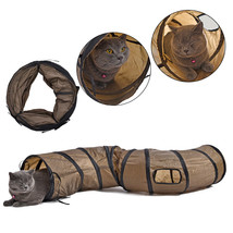 Tunnel Cat Dog Play Kitten Toy Toys Foldable Ball Game Long Funny Collap... - $24.94 CAD