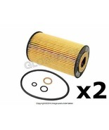 BMW E30 E36 Oil Filter Kit Set of 2 HENGST +1 YEAR WARRANTY - $29.30