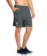 Baleaf Men's 7 Inches Quick Dry Workout Running Shorts Mesh Liner Zip Po... - $20.53