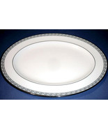 "Gorham Brandywine Oval Serving Platter 14"" Platinum Trim Made In USA New - $58.90"