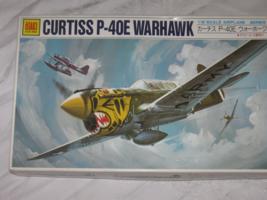 Otaki 1/48 Curtiss P-40E Warhawk WW2 US Fighter - $14.99