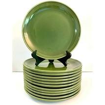 """HLC Homer Laughlin Green Flipsides Restaurant Ware Dinner Plates 10.5"""" S... - $178.20"""