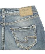 Silver Sam Distressed Dark Wash Low Rise Capri Denim Jeans Womens 26 26x25 - $29.58
