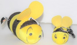 "Slinky Pets Bumblebees Plush Toys 5"" Vintage 1998 Series 3 Beezley & 4"" Keychain - $14.00"