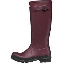 Hunter Original Tall Two Tone Wellington Rain Boots Burgandy 12 UK; 13 U... - $83.79